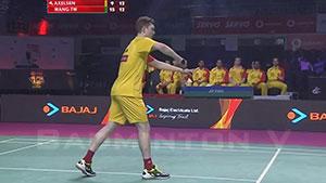 安赛龙VS王子维 2018印度超级联赛 男单小组赛视频