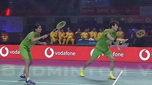 埃特里/斯基·瑞迪VS申白喆/沙旺特 2018印度超级联赛 混双小组赛视频