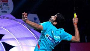 普拉尼斯VS斯里坎特 2017印度超级联赛 混合团体小组赛视频