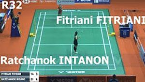 因达农VS菲特安妮 2018马来西亚大师赛 女单1/16决赛视频