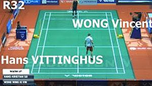 维汀哈斯VS黄永棋 2018马来西亚大师赛 男单1/16决赛视频