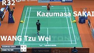王子维VS坂井一将 2018马来西亚大师赛 男单1/16决赛视频