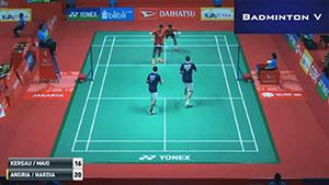 安格里亚万/哈迪安托VS凯尔索迪/马尤 2018印尼大师赛 男双1/16决赛视频