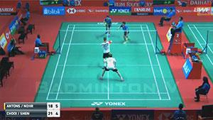 费尔纳迪/苏卡穆约VS南达什/伊斯里亚内特 2018印尼大师赛 男双1/16决赛视频