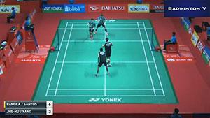 李洋/李哲辉VS尤苏夫/瓦赫尤那亚卡 2018印尼大师赛 男双1/16决赛视频