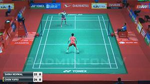 内维尔VS陈雨菲 2018印尼大师赛 女单1/16决赛视频