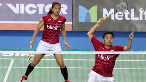 波莉/拉哈尤VS李绍希/申升瓒 2018印尼大师赛 女双半决赛视频