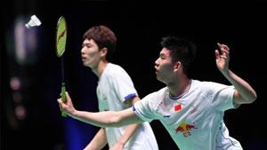 李俊慧/刘雨辰VS刘成/张楠 2018印尼大师赛 男双半决赛视频