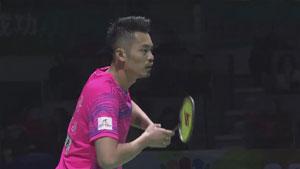 黄宇翔VS林丹 2017中国羽超联赛 混合团体半决赛视频
