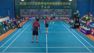 夏捷/ 葛文杰VS王斌/屠荣宜 2017天速龙凤杯城市混合团体赛 男双决赛视频