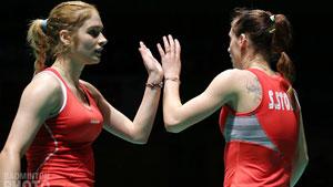加夫列拉/斯托伊娃VS波莉/拉哈尤 2018全英公开赛 女双1/16决赛视频