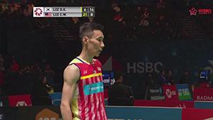李宗伟VS李东根 2018全英公开赛 男单1/8决赛视频