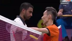 李宗伟VS欧斯夫 2018英联邦运动会羽毛球 混合团体半决赛视频
