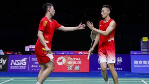 刘成/张楠VS彼德森/科丁 2018羽毛球世锦赛 男双1/4决赛视频