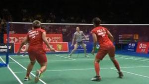 松本麻佑/永原和可那VS波莉/拉哈尤 2018羽毛球世锦赛 女双半决赛视频