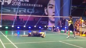 中国业余女单居然能把佐藤冴香打得倒地救球!