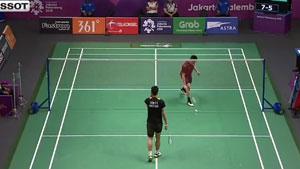 周天成VS王佳伦 2018亚运会 男单1/8决赛视频