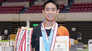 绿川大辉VS奈良冈功大 2018全日本高校体育大会 男单决赛视频