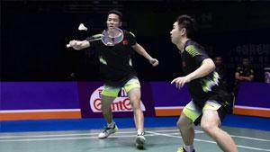 陈宏麟/王齐麟VS谭强/何济霆 2018中国公开赛 男双半决赛视频