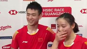 记者问如何准备半决赛?郑思维/黄雅琼突然笑场了!